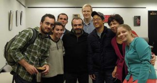 CREES students with Russian writer Victor Shenderovich